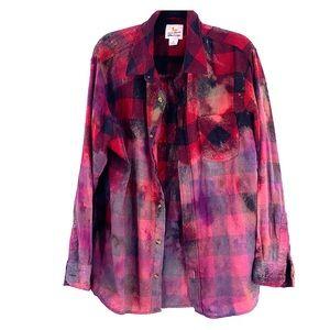 Vintage grunge flannel tie dye size XL